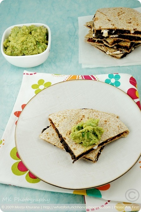 ... Your Senses: Fiesta Time: Black Bean and Goat Cheese Quesadillas