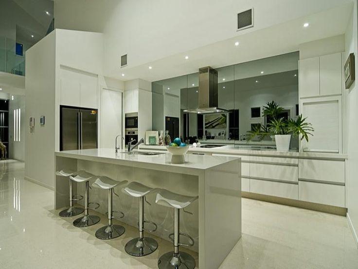 Full Height Mirror Splashback Kitchen Pinterest