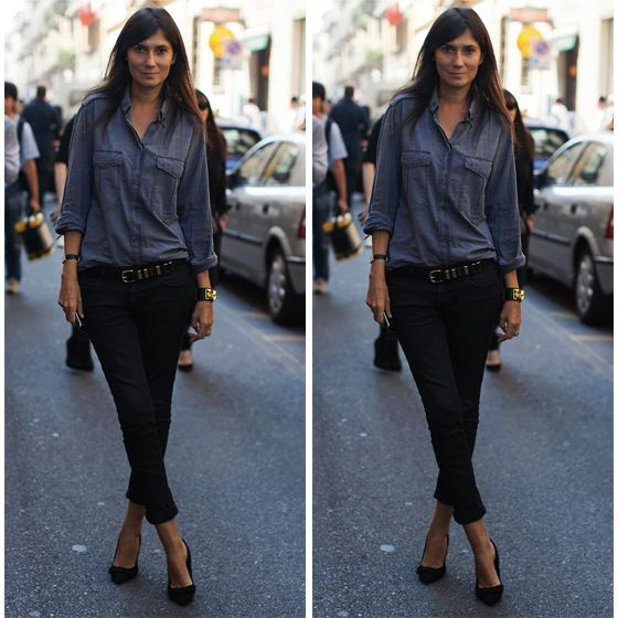 Camisa jeans #jeans #camisa #streetstyle #fashion #moda #style #look #looks #moda