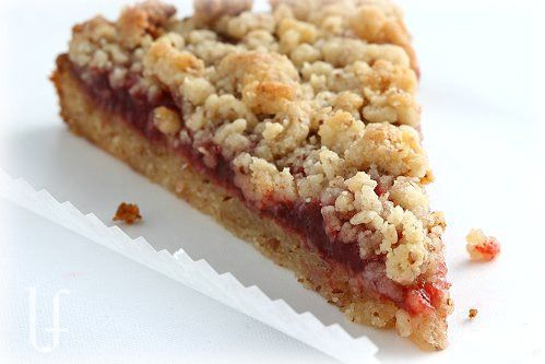 Raspberry crumb bars | Low carb desserts | Pinterest