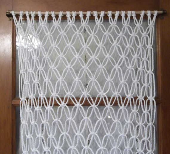 Macrame curtain or wall hanging by KnotsEverywhere on Etsy