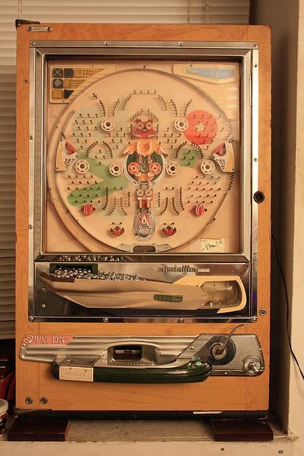 antique pachinko machine