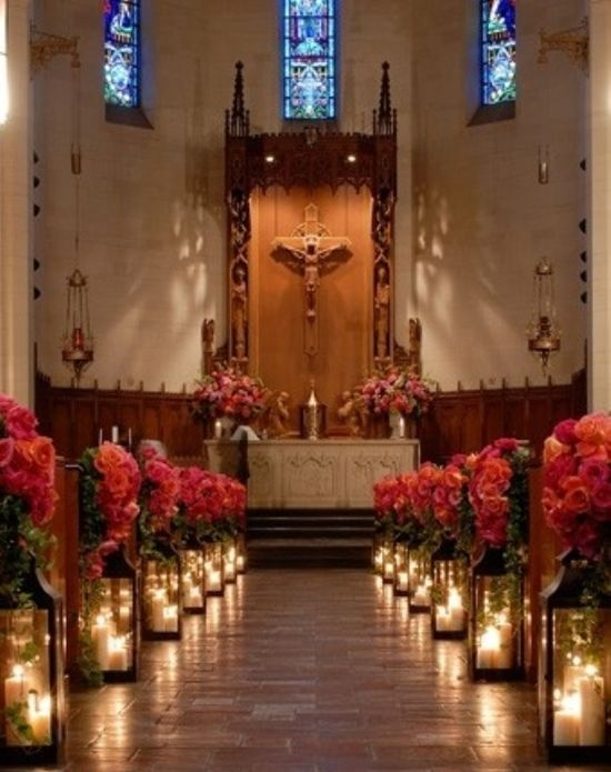 Church ceremony decorations weddings just married for Wedding ceremony decoration ideas pictures