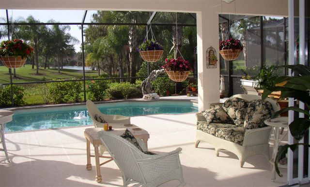 Photo of outdoor patio for my new home pinterest for Florida lanai designs