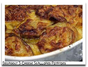 Decadent Three Cheese Scalloped Potatoes | food | Pinterest