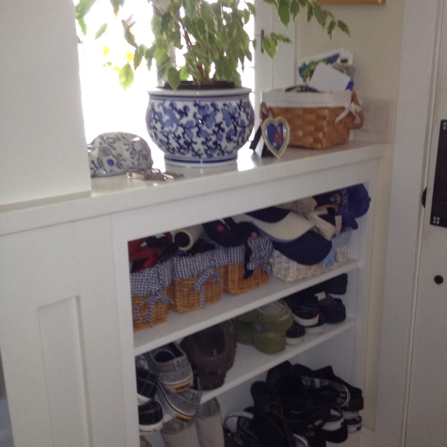 front door storage solution carpentry and projects