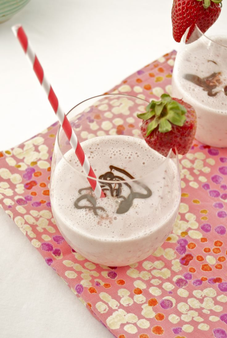 Roasted Strawberry Milkshakes with Nutella Espresso Ganache