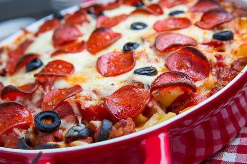 Pepperoni pizza casserole w/ nooodles | Low Carb/No Carb recipe's | P ...