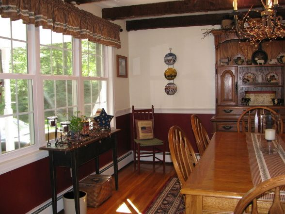 Americana Decorating Rooms Primative Dining Dining Room Designs