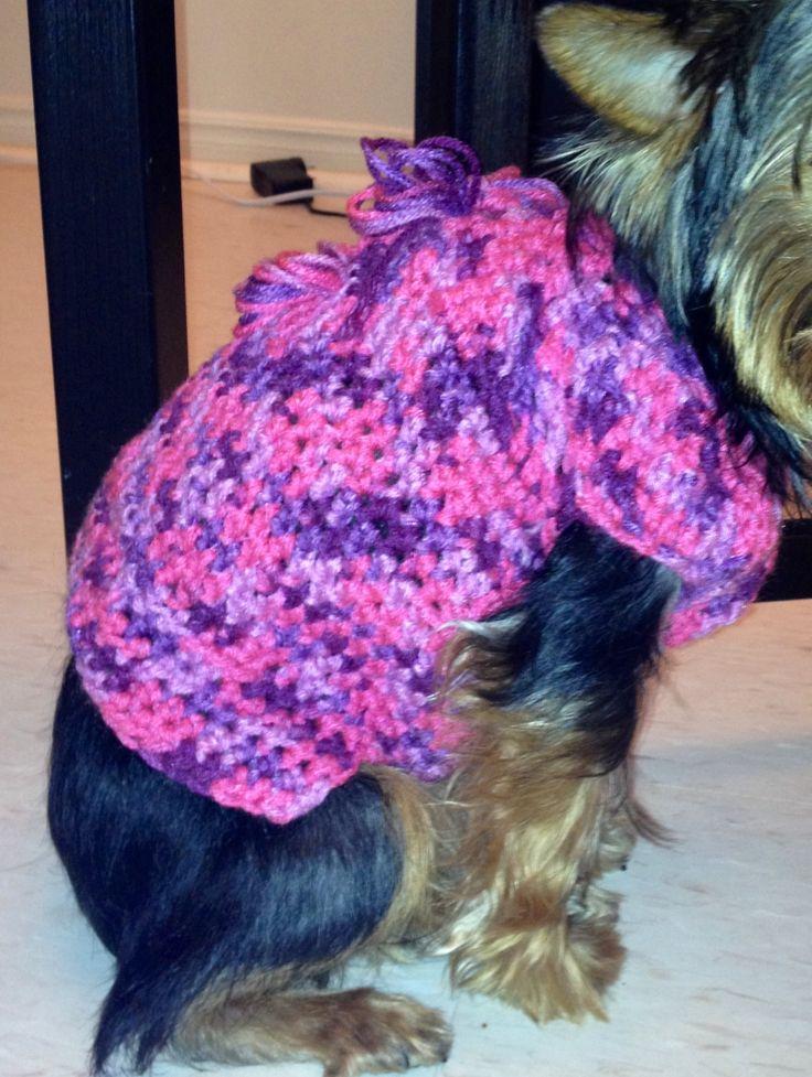 Crochet dog sweater crochet dog things Pinterest