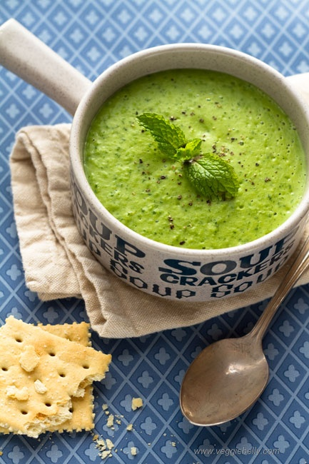 Fresh Pea & Mint Soup - Not a fan of peas normally, but this actually ...