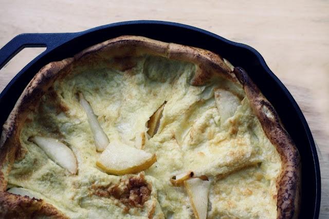 Puffed Pear Pancake with Vanilla Bean | Desserts | Pinterest