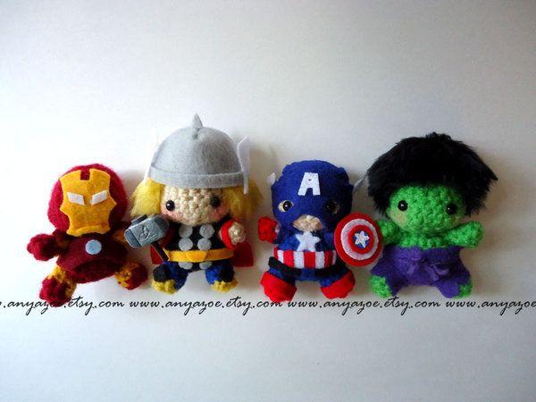 Snail Avengers Amigurumi : Avengers amigurumi Crochet super hero hats Pinterest