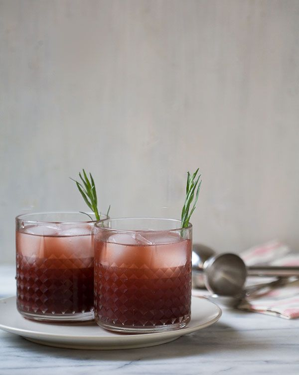 Pomegranate Tarragon Caipiroska - tarragon syrup, lime juice, vodka ...