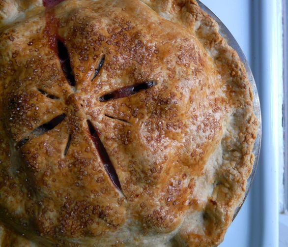 Apple Cranberry Pie--best pie! I used a total of 8 apples, gala and ...