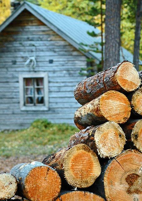 firewood for cozy winter fires - it is time to start getting the wood ready in Montana.  This pic takes me to a place where the air is crisp and cool, fall is in the air and morning fires are burning!