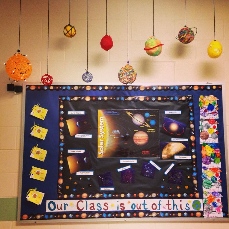 Space Themed Classroom Ideas ~ Solar system classroom decorations bulletin boards page