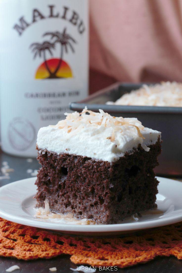 Chocolate Coconut Malibu Rum Cake | Sweet Treats | Pinterest