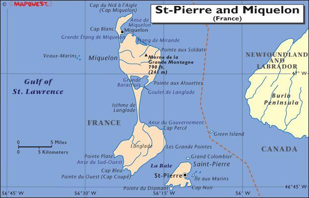 Map Of SaintPierre And Miquelon  St Pierre Amp Miquelon