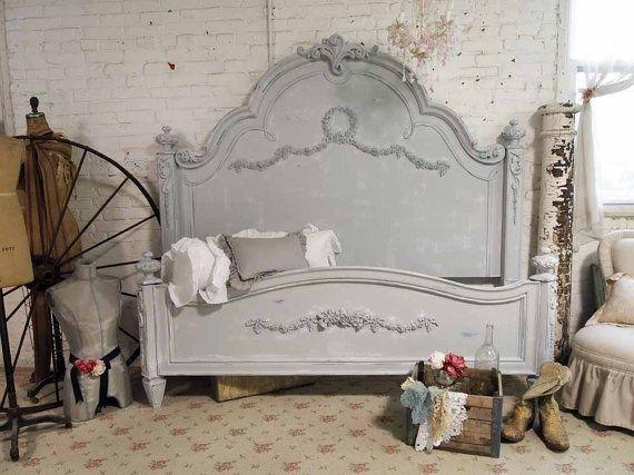 Grey Shabby Chic Bedroom 570 x 427