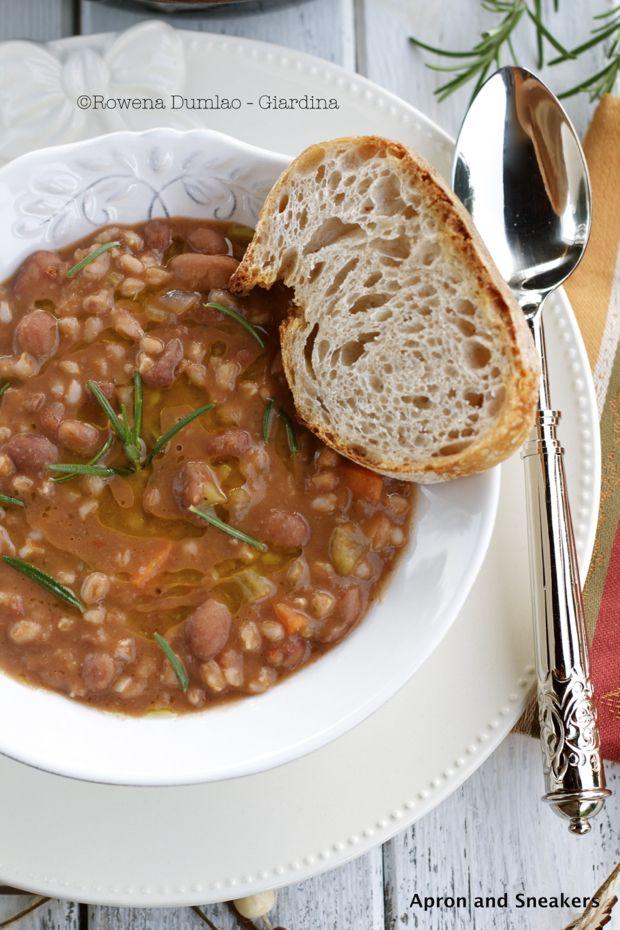 ... Zuppa di Farro e Fagioli (Emmer Wheat & Borlotti Bean Soup) and Milano