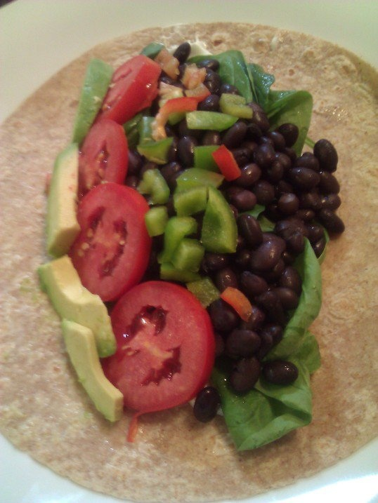 black bean wrap...one of my faves right now.