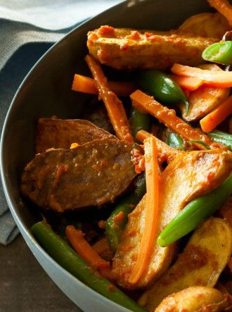New Potato Rendang & Green Beans Recipe - Click the image for the ...