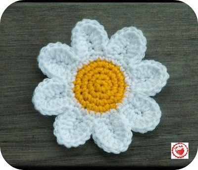 Crochet Daisies - Free Pattern Crochet Flowers Pinterest