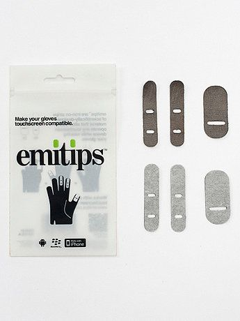 Iron-On Fabric Strips: make any gloves work with phone $10