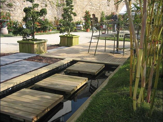 bassin et terrasse bois  Garden  Pinterest ~ Terrasse Bois Bassin