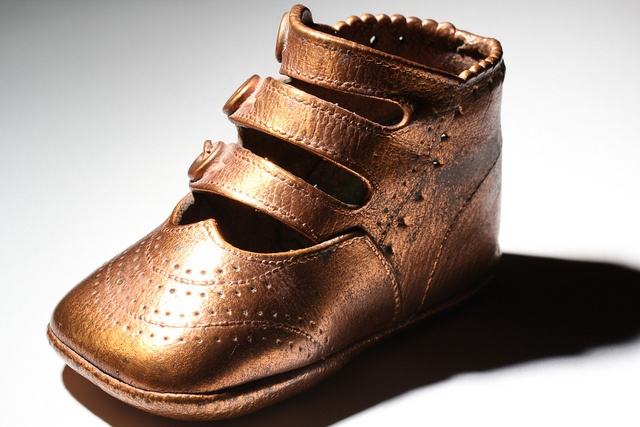 Bronzed baby shoe | Bronze Baby Shoes | Pinterest