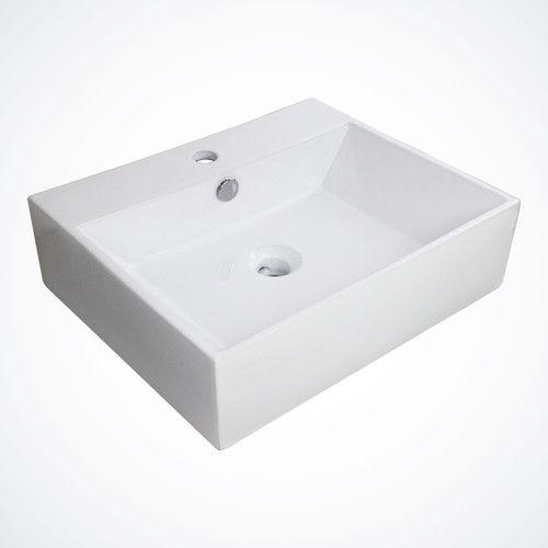 Wide Vessel Sink : New Large Porcelain Ceramic Vessel Vanity Sink Basin Faucet Bathroom w ...