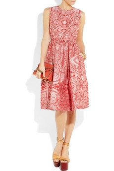 Lucy silk and cotton-blend jacquard dress