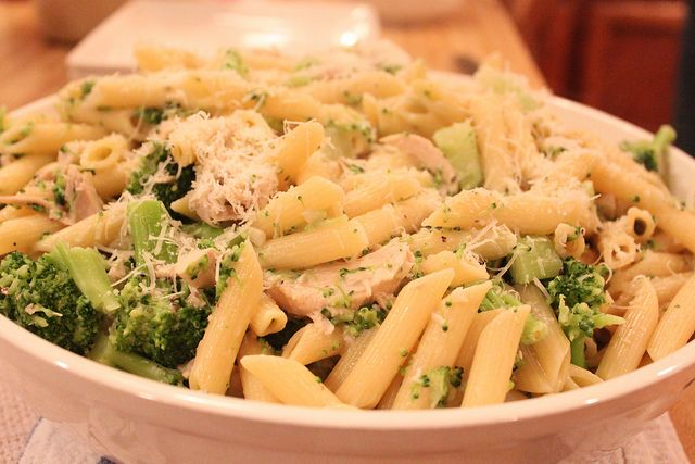 Pasta with Chicken and Broccoli by Darby O'Shea, via Flickr