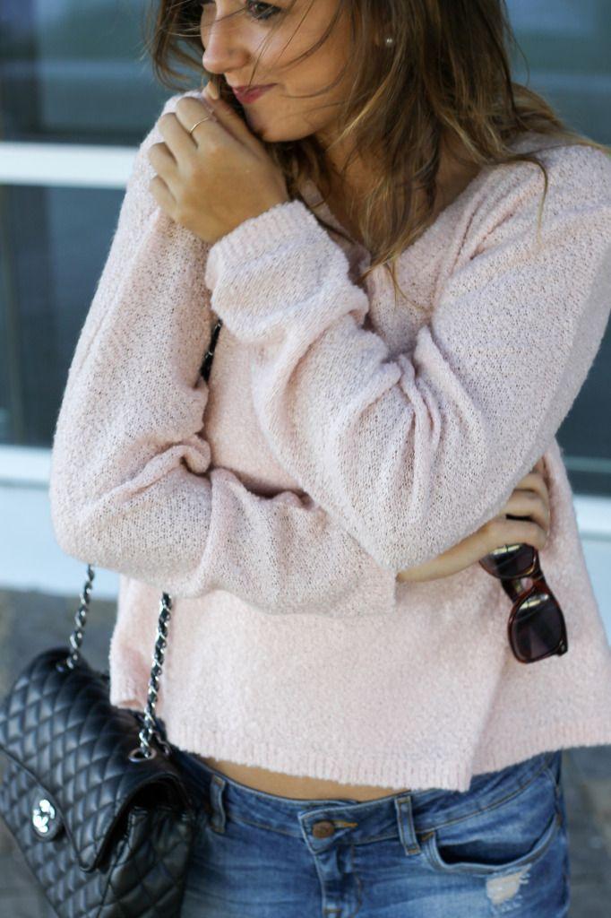パステルカラーニットセーター