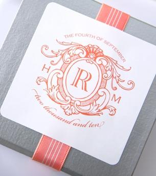 Like this sticker design for a wedding favor.