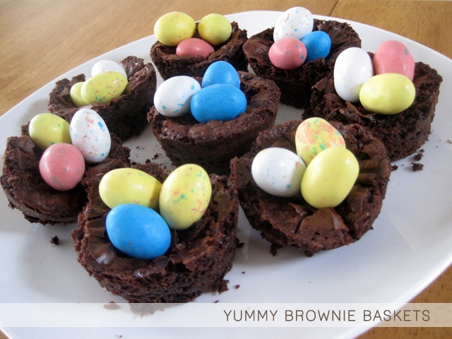EASTER: BROWNIE BASKETS