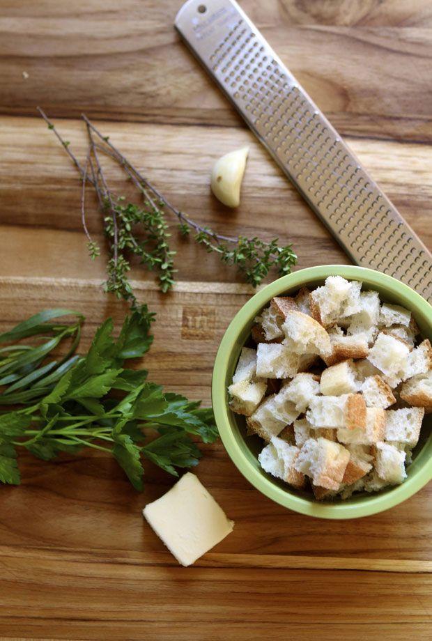 herb croutons for potato leek soup | cooking stuff | Pinterest