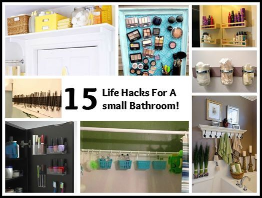 15 life hacks for a small bathroom for the home pinterest for Small bathroom hacks