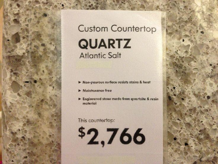 Atlantic Salt Quartz Countertop Ikea Kitchen Ideas Pinterest