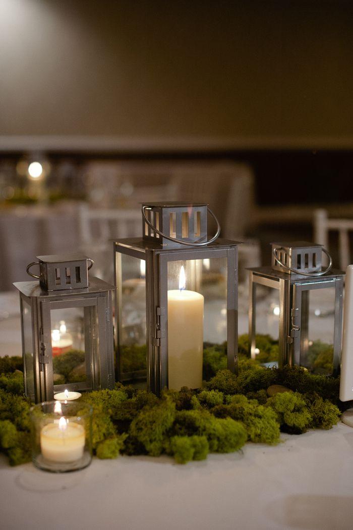 Wedding Lantern Center Piece - these lanterns are from IKEA.