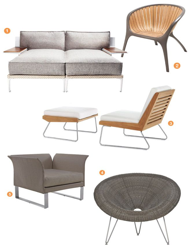 Outdoor Furniture Roundup Modern Muse