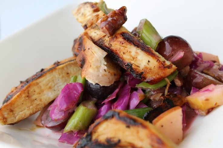 ... one is a Grilled Raspberry Chicken with a modern day Waldorf salad