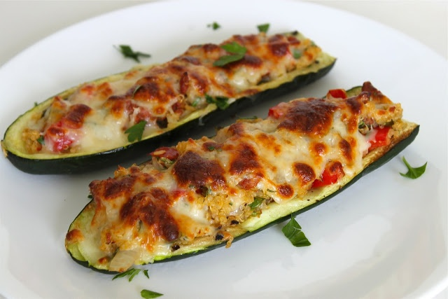Chorizo + Quinoa {Stuffed} Zucchini | Scrumdidlyumptious Side Dishes ...