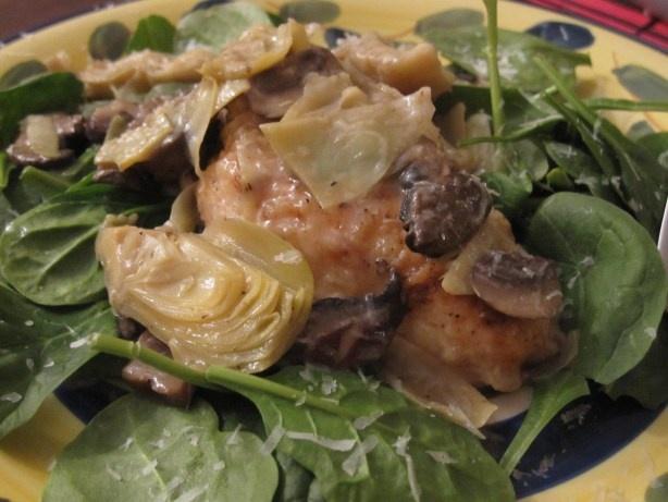 Chicken & Artichokes In Wine Sauce Recipes — Dishmaps