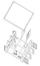 Sba nine square grid house architecture pinterest for Architecture 9 square grid