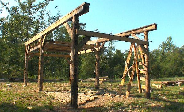 Building an old-fashioned pole barn | Pole Barn | Pinterest
