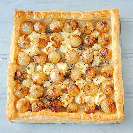 Easy Caramelized Onion and Feta Tart | Favorite Recipes | Pinterest
