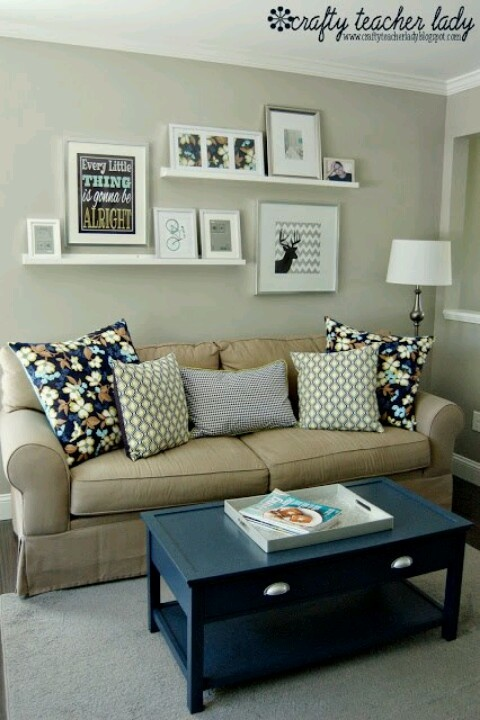 Like The Idea Of Shelves Above The Couch