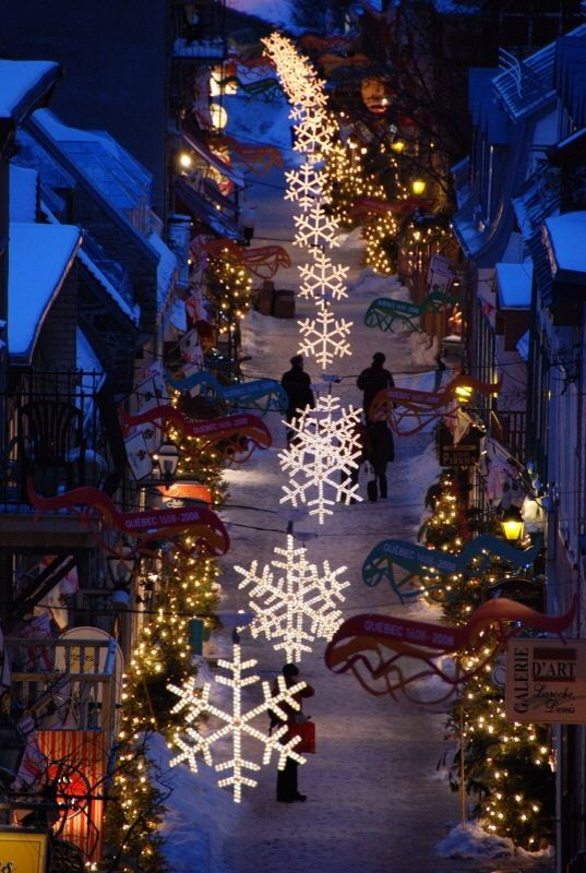 Christmas in quebec city canada happy christmas for Decoration quebec